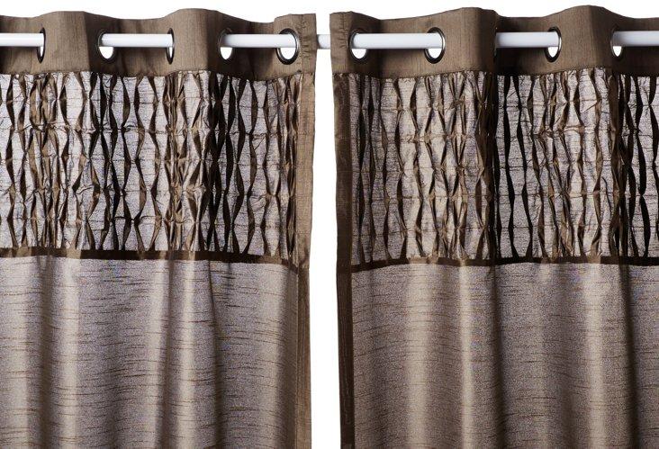 "Bedford 84"" Curtain Panel, Latte"