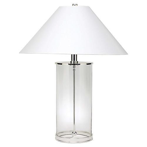 Modern Table Lamp, Polished Nickel