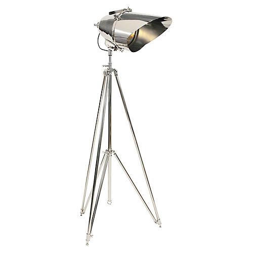 Cutter Tripod Lamp, Polished Nickel