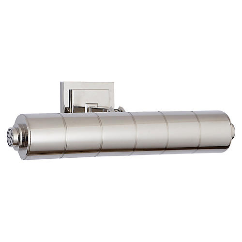 Montgomery Small Picture Light, Polished Nickel