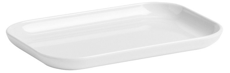 Rectangular Plate, White