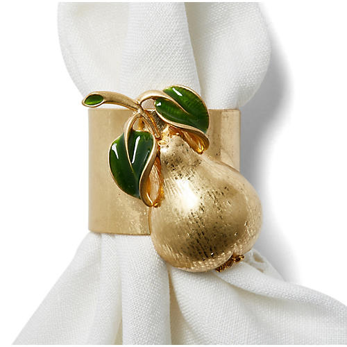 S/2 Pear Napkin Rings