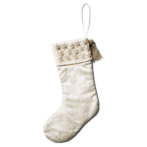 "14"" Star Stocking, Silver"