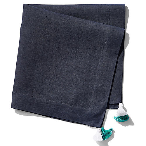S/2 Tassel Dinner Napkins, Navy