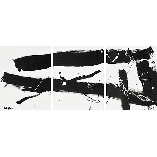 Black on White Triptych, Robbie Kemper