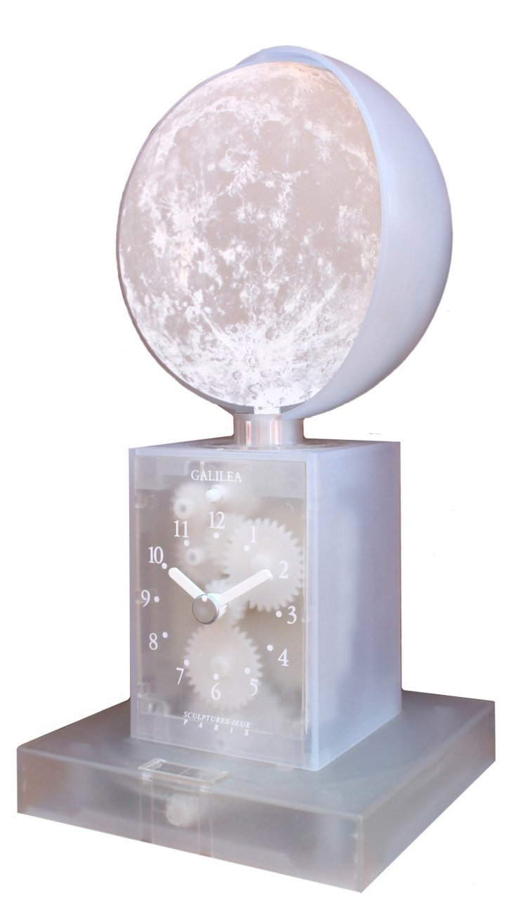 Galielea Moon Phase Clock, White