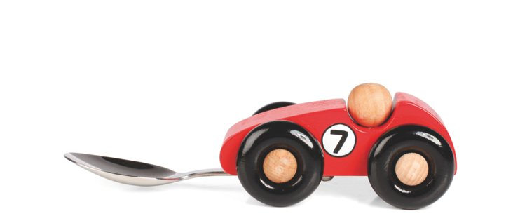 Race-Car Baby Spoon, Red