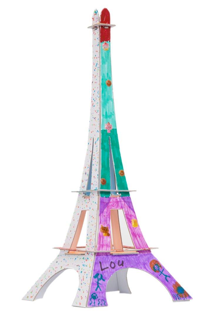 Eiffel Tower, Purple/Multi