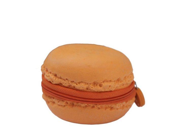 S/2 Macaron Coin Purses, Orange