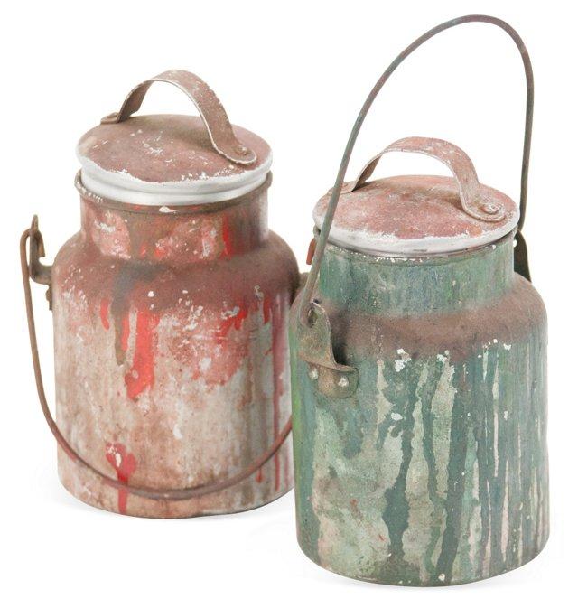 Artist's Paint Cans, Pair