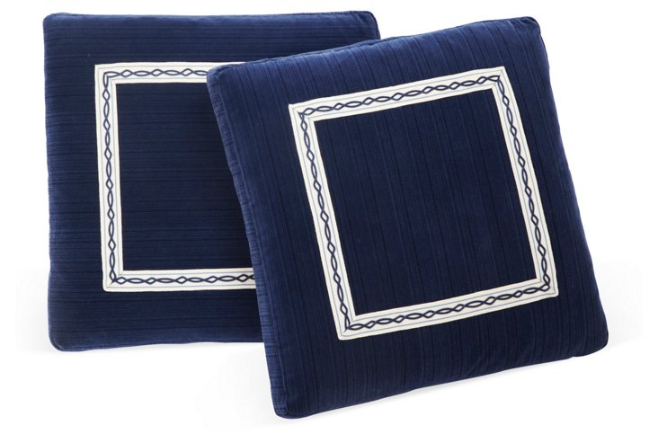 Scalamandré Velvet Pillows, Pair I
