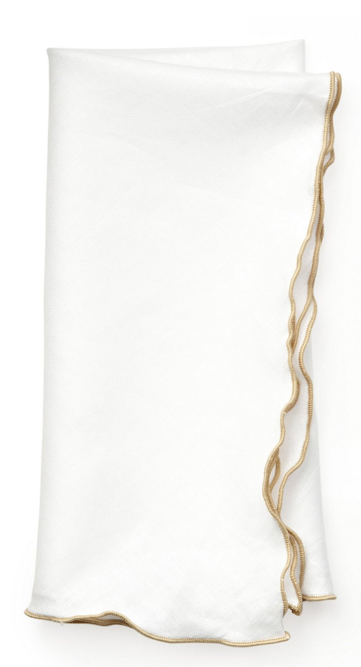 S/4 Park Ave Dinner Napkins, White