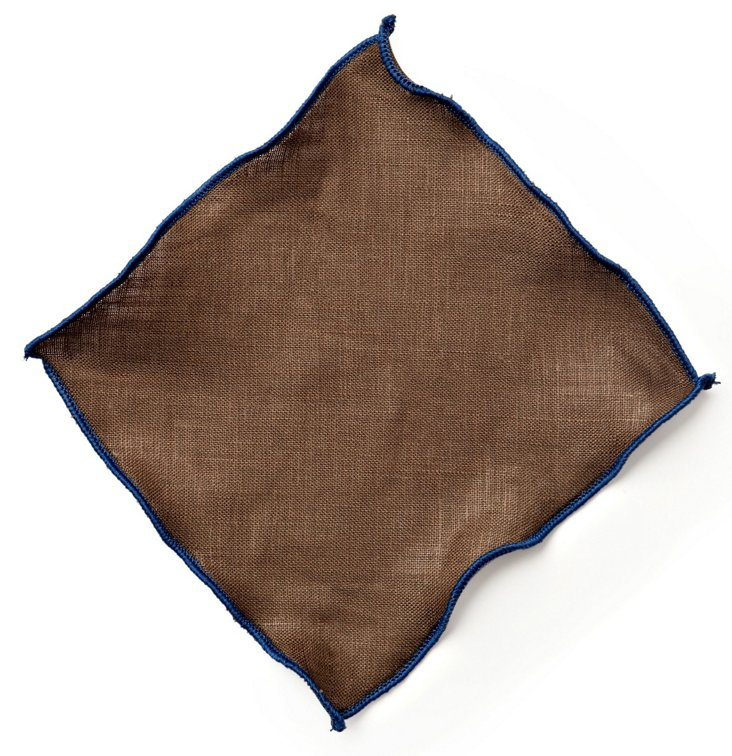 S/6 Park Ave Cocktail Napkins, Brown