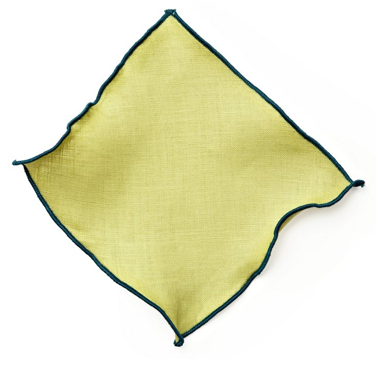 S/6 Park Ave Cocktail Napkins, Green