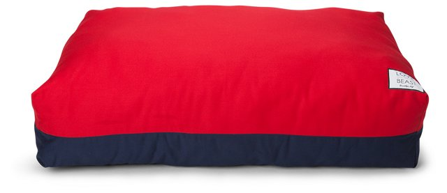 Flip Stich Bed, Navy/Red
