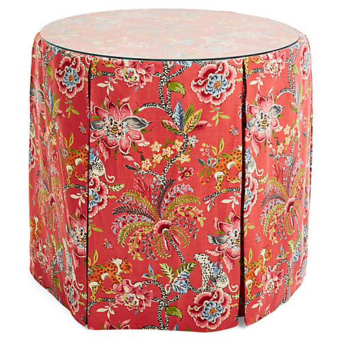 Eden Round Skirted Table, Tropics