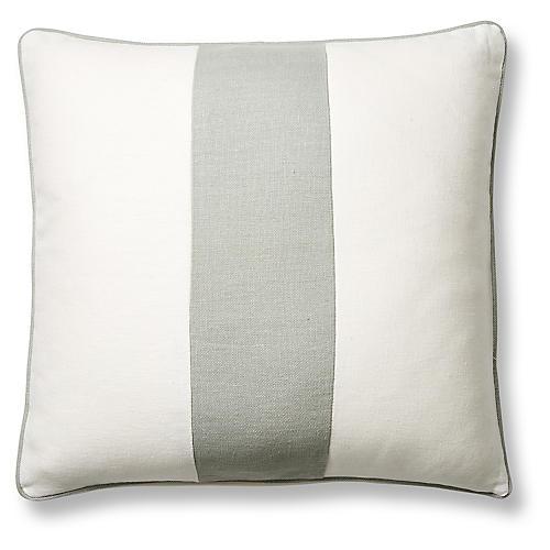Blakely 20x20 Pillow, Sage/White Linen