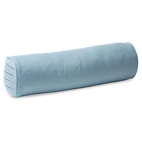 Twyla 7x21 Bolster Pillow, Bluebell Linen
