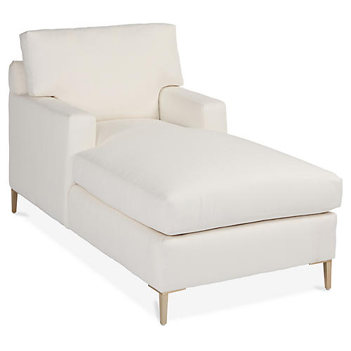 Hinton Chaise, Ivory Crypton