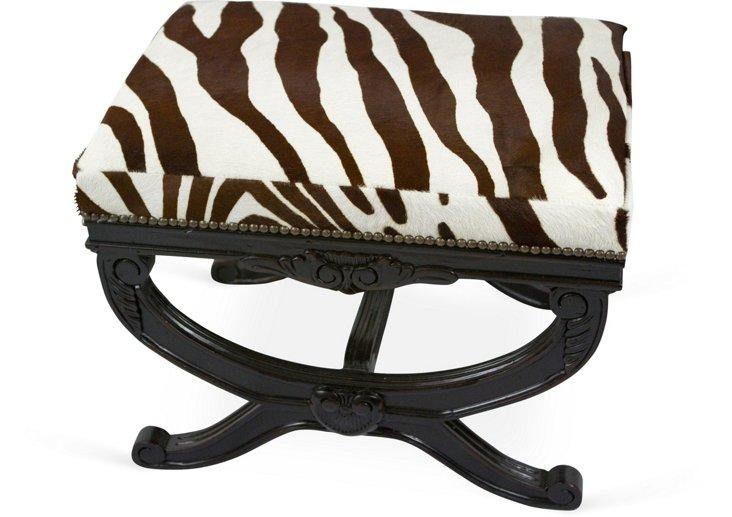 Faux-Zebra Cowhide Bench II