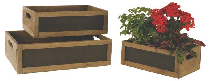S/3 Wood Crates