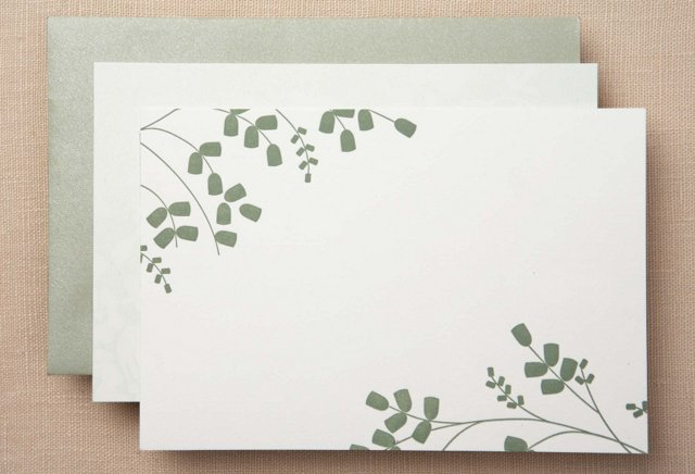 S/50 Vera Wang Note Cards, Pine