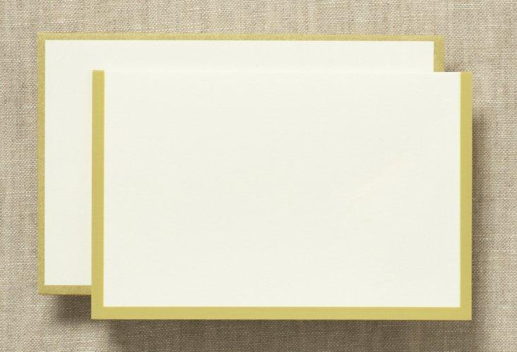 S/25 Vera Wang Note Cards, Mustard