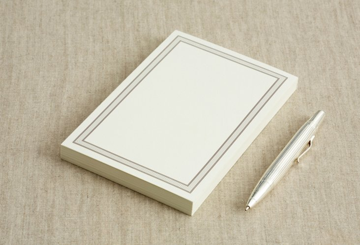 Chime Border Note Card Pad, 25 Cards