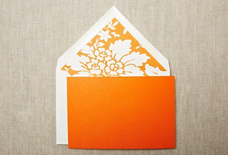 S/20 Pumpkin Damask Top-Fold Notes