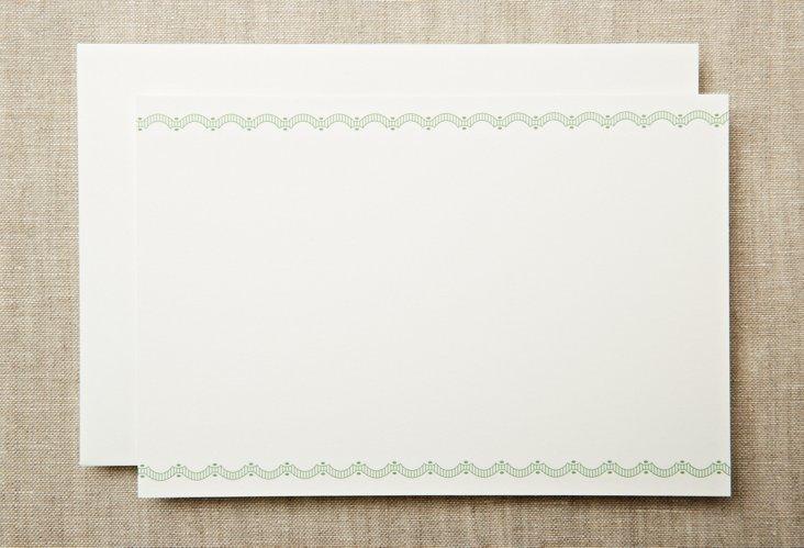 S/20 Engraved Flirt Trim Flat Cards