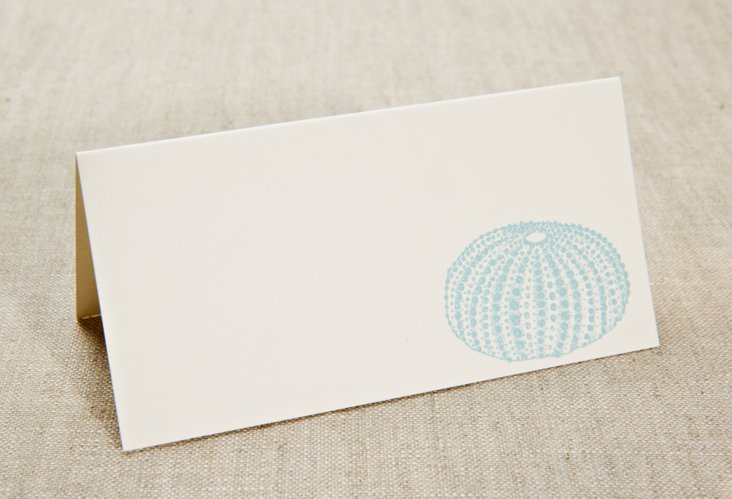 S/50 Engraved Urchin Place Cards