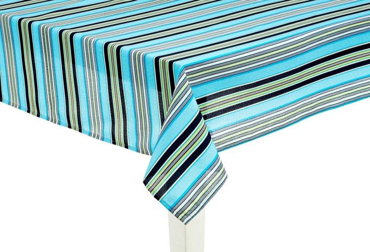"Getaway Stripe Tablecloth, 60"" x 84"""