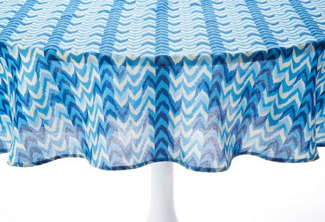 Blue Ikat Tablecloth