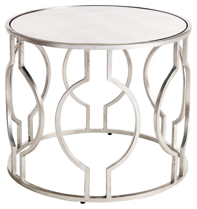 Lauri Side Table, Silver