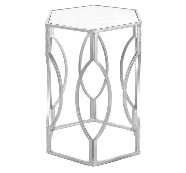 Morocco Hexagonal Table, Silver