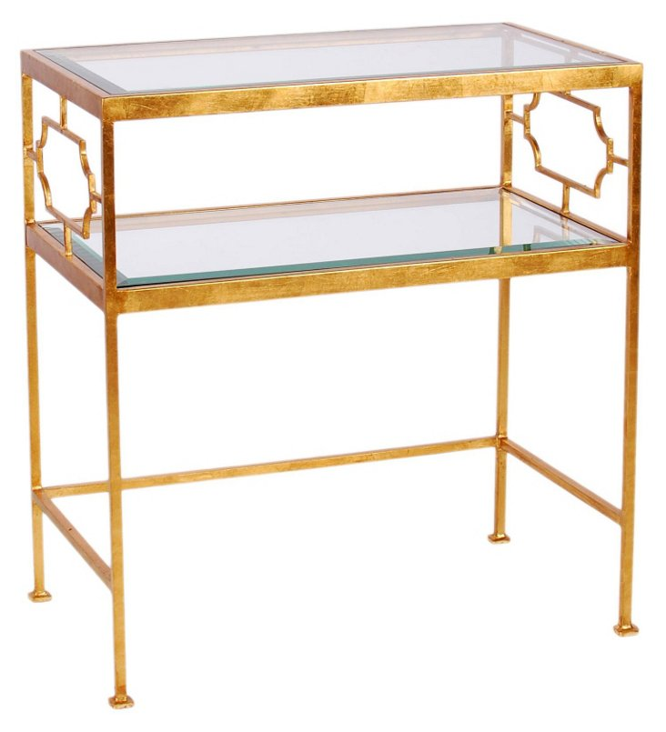 Jacques Side Table, Gold
