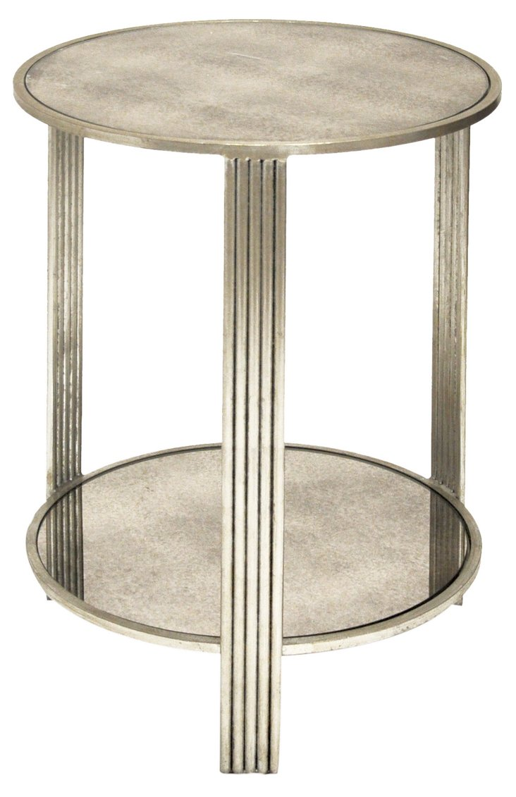 Celia Side Table, Silver