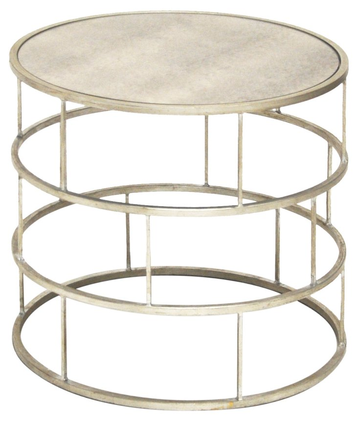 Ladder Side Table, Silver