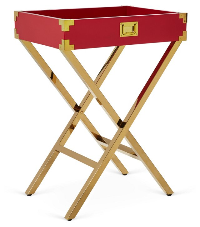 Hayward Tray Table, Red