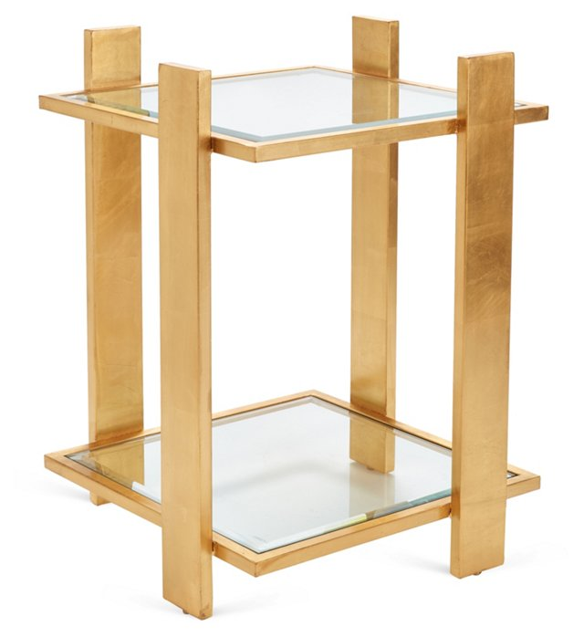 Emerson Side Table, Gold