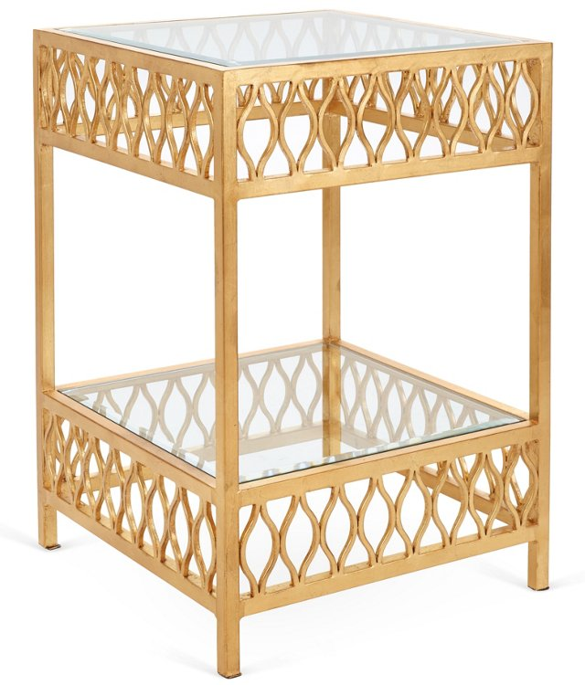 Felix Side Table, Gold