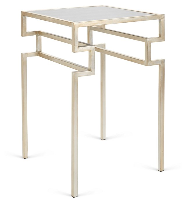 Everett Side Table, Silver
