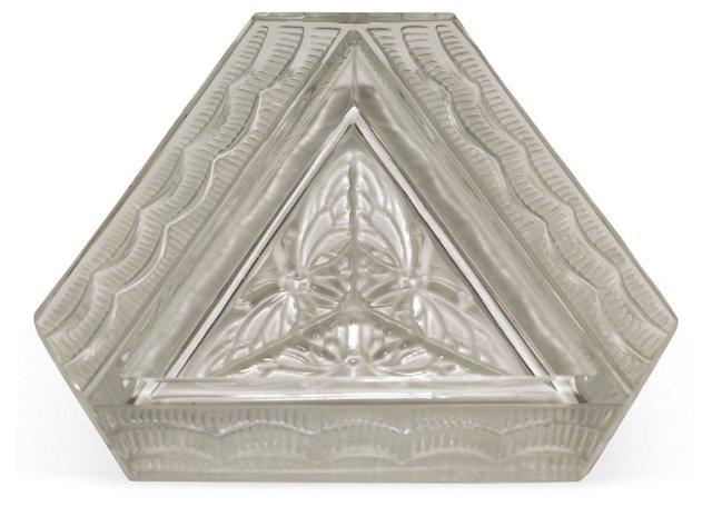 Lalique Crystal Art Deco Tray