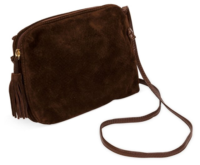 Bottega Veneta Brown Suede Body Bag