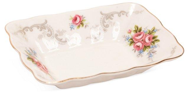 English Porcelain Jewelry Tray