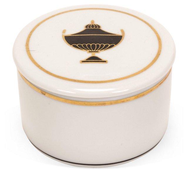 Richard Ginori Porcelain Urn Box