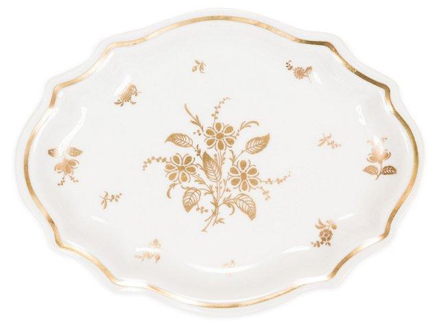 Richard Ginori Gold Porcelain Soap Dish