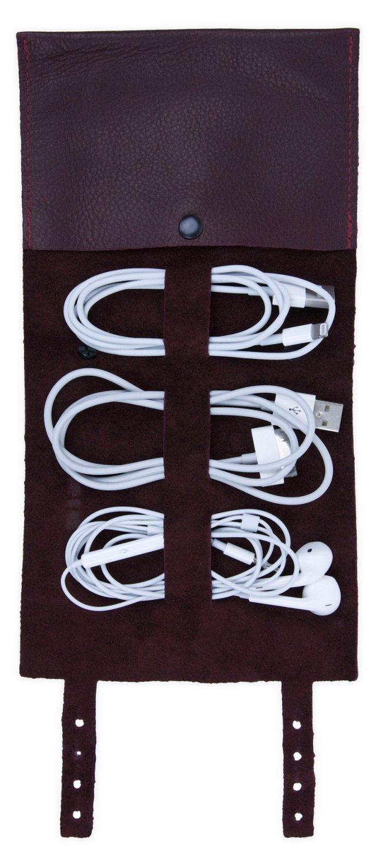 Leather Cordito Cord Wrap, Merlot