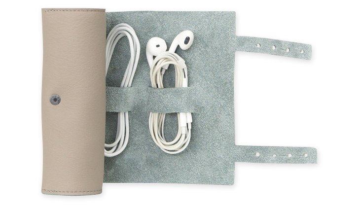 Leather Cordito Cord Wrap, Gray