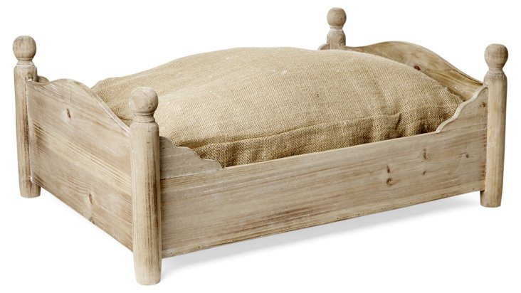 Burlap Pet Bed